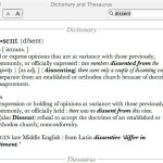 Word of the day: Dissent