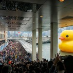 Even giant inflatable ducks need a break