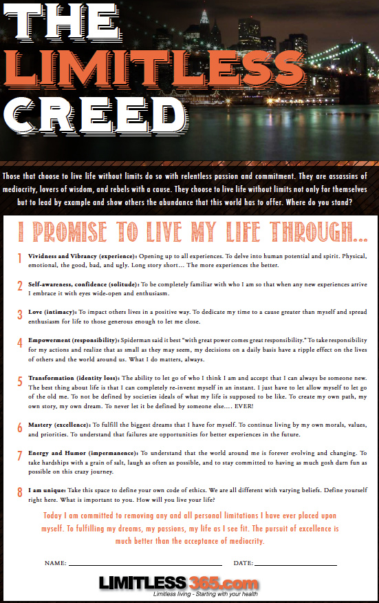 limitless365 creed