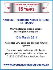 Limping Chicken ad Deaf Seminar Warrington