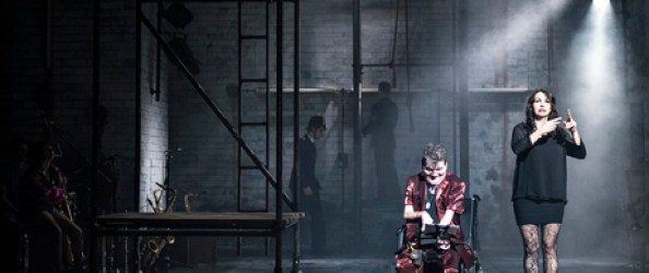Centre stage … Graeae's production of The Threepenny Opera.