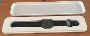 Carefully unboxing the new Apple Watch