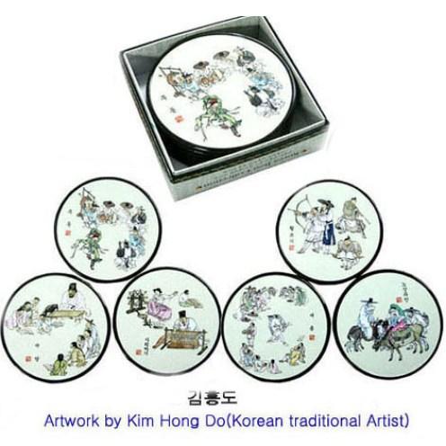 Korean traditional coaster -Kimhongdo 코스타 김홍도
