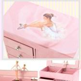 Ballerina necklace musical jewelry box with 4 drawers 발레리나 4단 목걸이 오르골 보석함