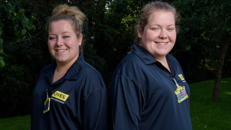 (L-R) Louise and Nicola are first responders for the LIVES charity. Photo: LIVES
