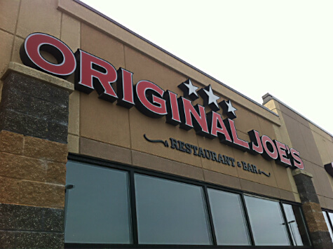 Original Joe's at 4300 South Park Drive, Stonyplain.