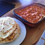 Naan bread and butter chicken!!! (Not pictured: rice!)