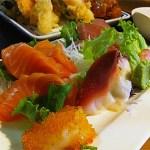 Close up of the delicious sashimi at Kobe Japanese Bistro