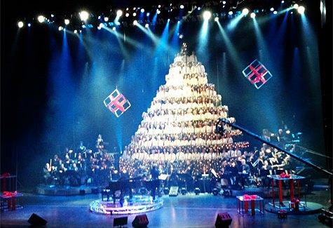 At the 43rd annual Edmonton Singing Christmas Tree!