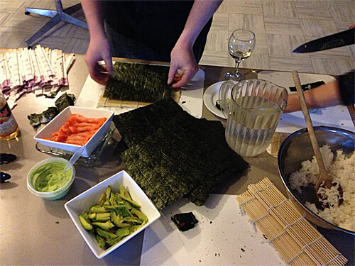 Sushi-making session!