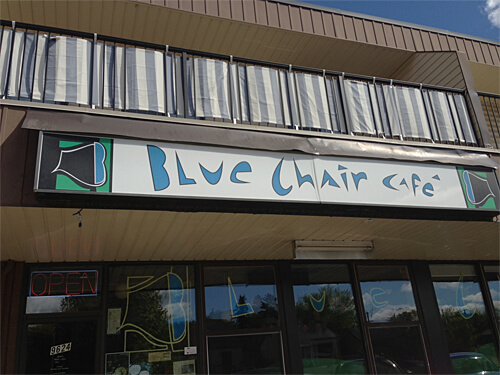 The Blue Chair Cafe at 9624 76 Avenue.