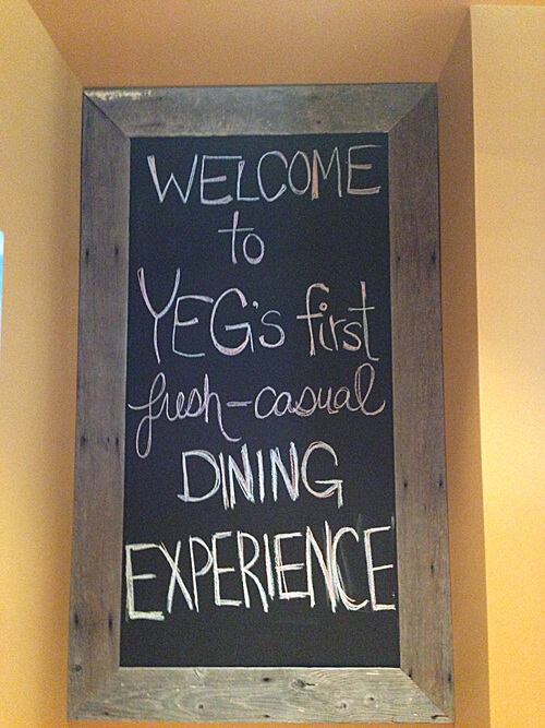 Edmonton's first fresh-casual dining experience?