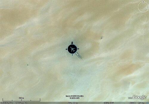 A beautiful memorial - seen on Google Earth.