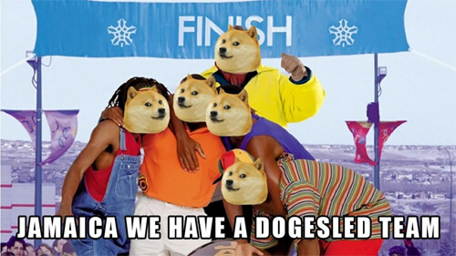 Dogecoin users raise $30,000 to send the Jamaican bob sled team to Sochi. Crazy!