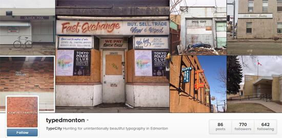 Edmonton Instagram - Type Edmonton