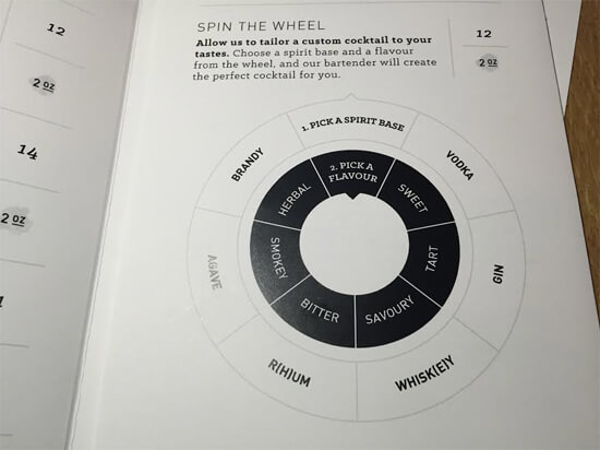 The drink wheel! at North 53!