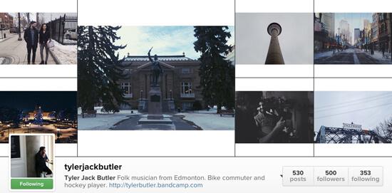 Edmonton Instagram Users - tylerjackbutler