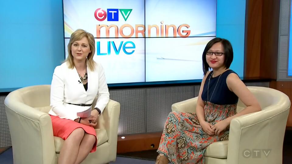 Linda Hoang CTV Morning Live Food Blogger