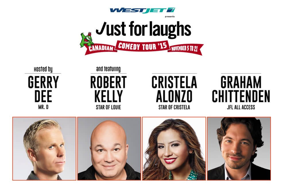 Just for Laughs Comedy Tour 2015 Edmonton Nightlife Poster
