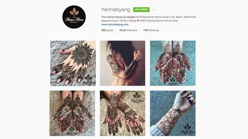 Top Edmonton Instagram Users - hennabyang - Social Media