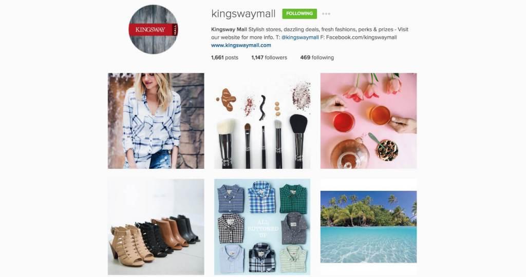 Top Edmonton Instagram Users - kingswaymall - Social Media