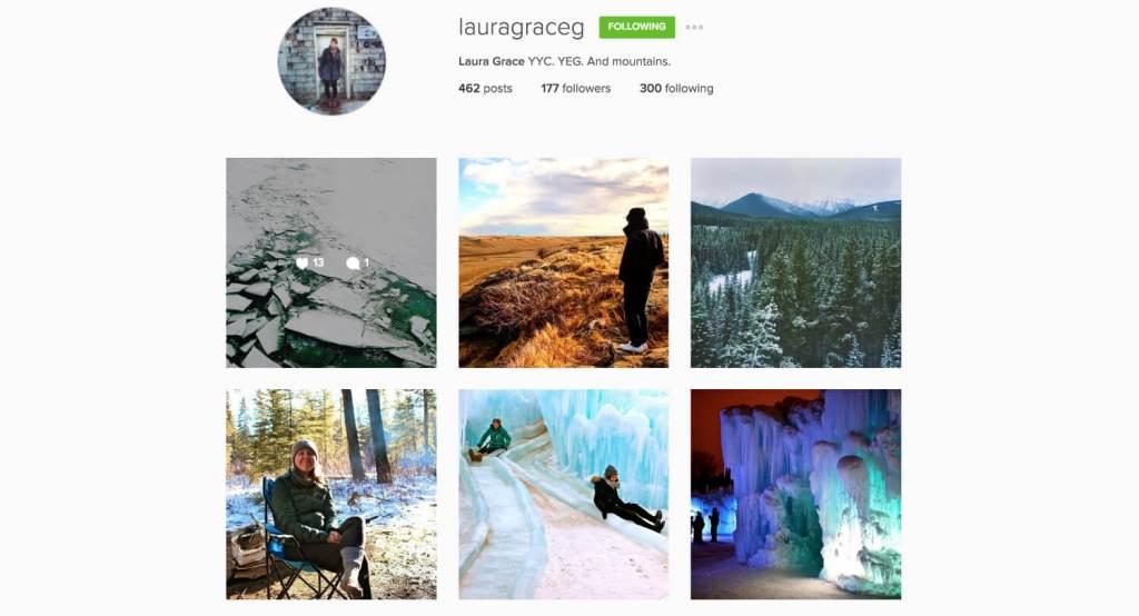 Top Edmonton Instagram Users - lauragrace - Social Media