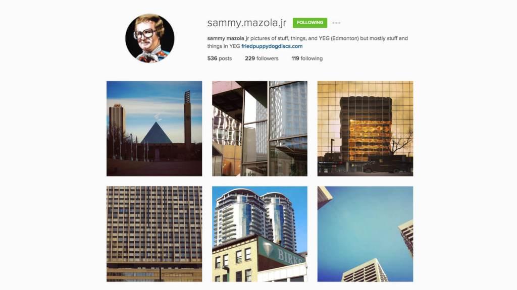 Top Edmonton Instagram Users - sammymazolajr - Social Media