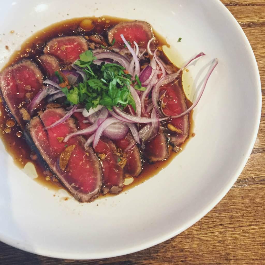 Ikemen Ramen - Beef Tataki - Calgary Food - Explore Alberta