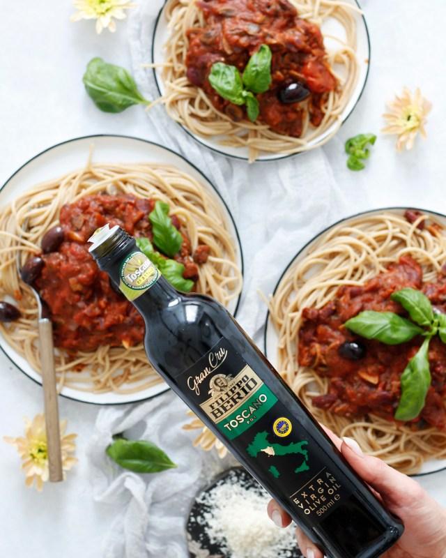"""Ekkert kjöt spagetti """"bolognaise"""""""