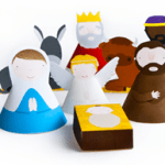Printable nativity set from Marloes de Vries, a designer and illustrator from the Netherlands
