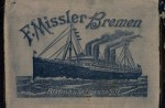 "Missler Wallet with Josef's Gärtz's diary inside. Note: ""Missler"" was a ticket agent in Bremen, Germany, but for years people thought it was the name of this ""ghostship."" Scroll down to the ""Missler"" link to learn more."