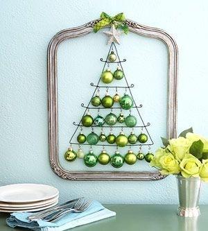 Alternativt juletre på veggen