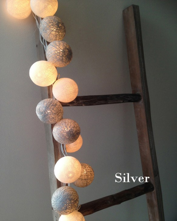 WOW Cottonlights Silver med lys