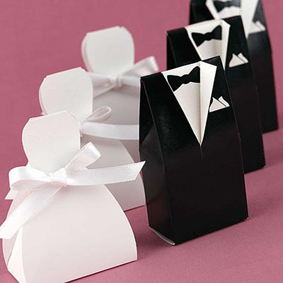 Brudepar sort og hvit enkel