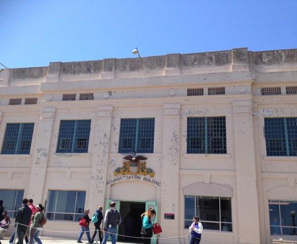 Bygning Alcatraz front administrasjon fengsel