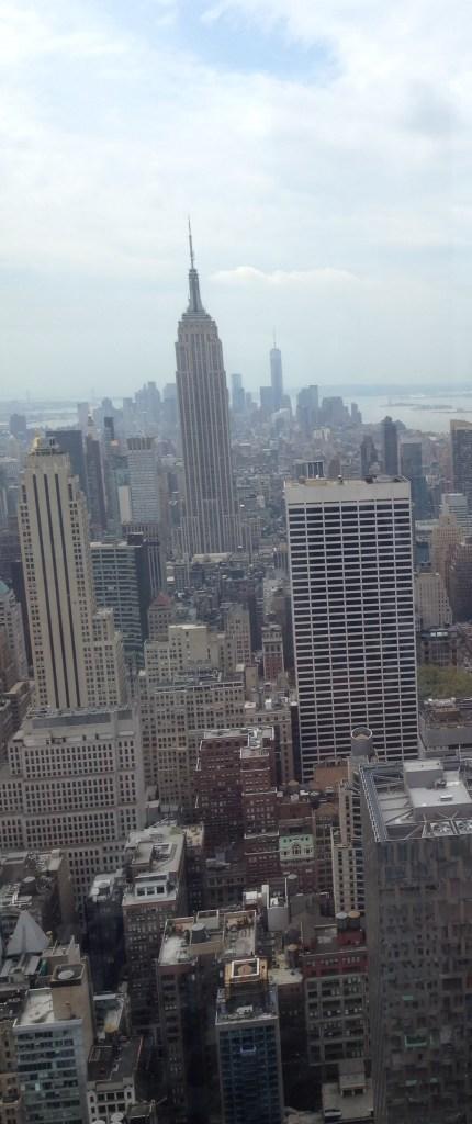 New York utsikt fra Rockefeller Center 1