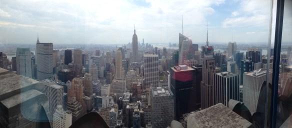 New York utsikt fra Rockefeller Center 3