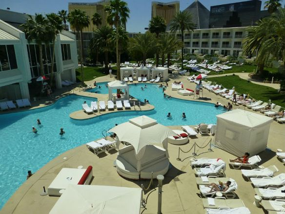Tropicana las vegas hotell bassengområde