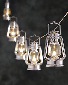 Lyslenke sølvfargede lykter LED Konstsmide