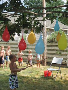 bursdagsaktiviteter utendørs ballonger