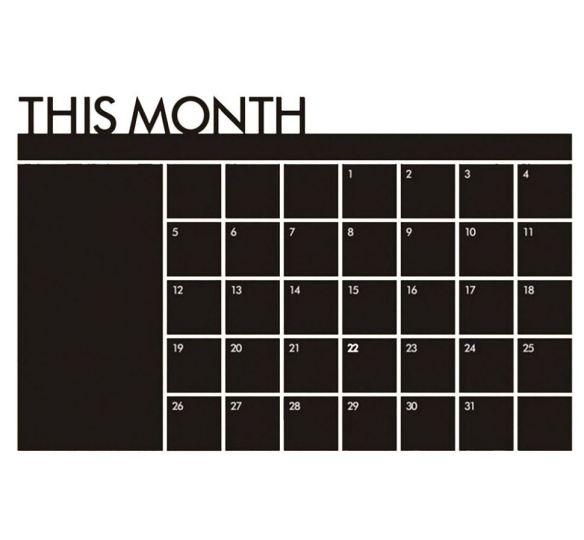 Tavle Wallstickers måned kalender produktbilde woweffekt