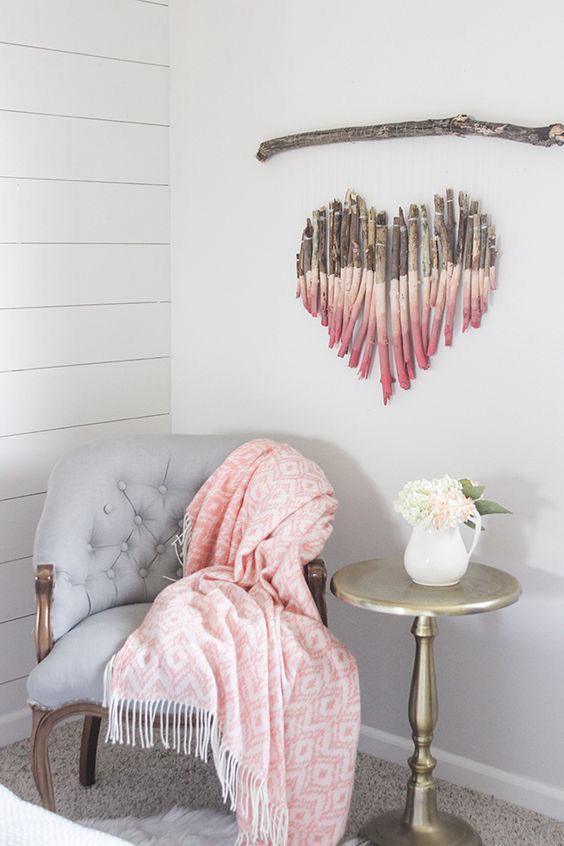 dekor-vegg-malt-rekved-hjerte