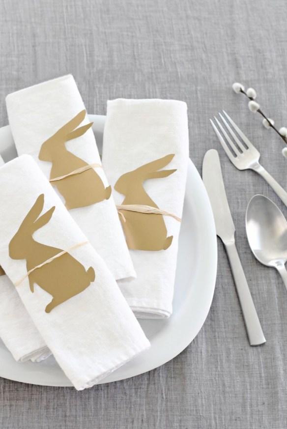 Påskebord pynt serviett