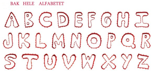 kakeformer byggesett alfabetet bokstav kake