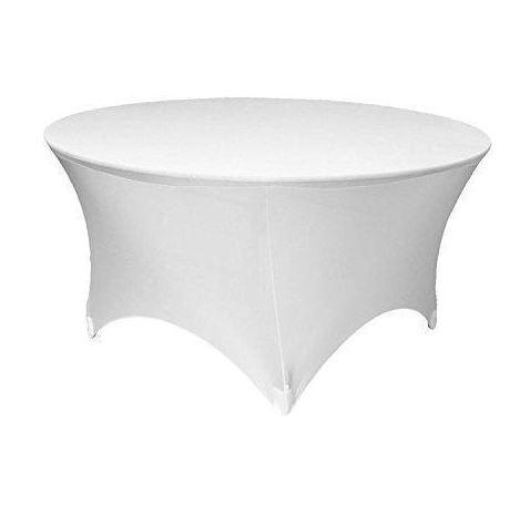 Bordtrekk spandex rundt bord hvit