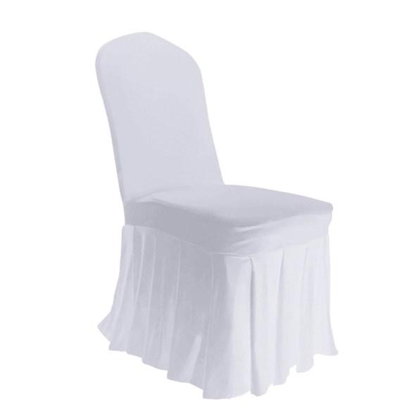 Stoltrekk til konferansestol med plissert kant nederst