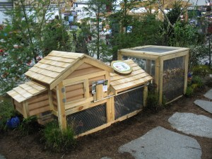 chicken coop at VT Flower Show