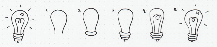doodle how to draw lightbulb