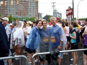 Lindsey, Whitney, and Joe - 2008 Country Music Half Marathon in Nashville, TN