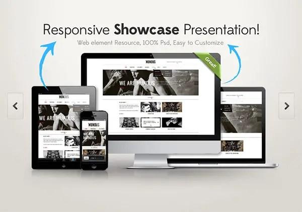 Responsive Showcase  mockup PSDs